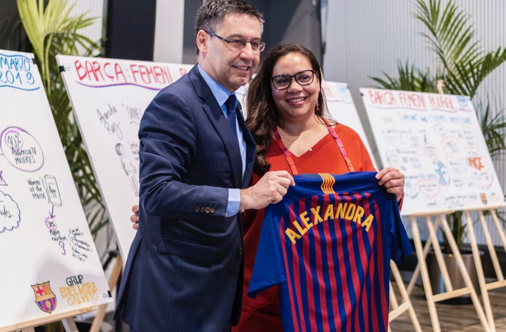 Real-Time Visual Storytelling at an FC Barcelona Event